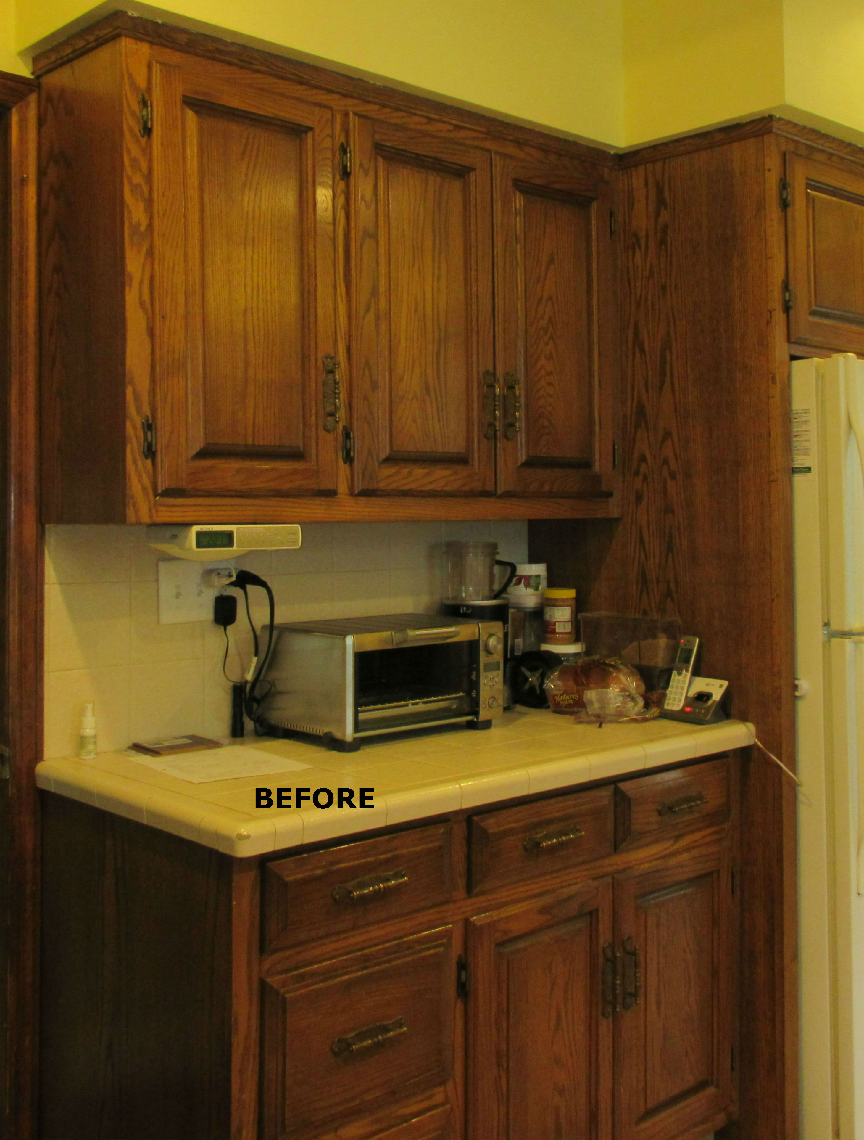 Kitchen Cabinet Refinishing Before And After Spray